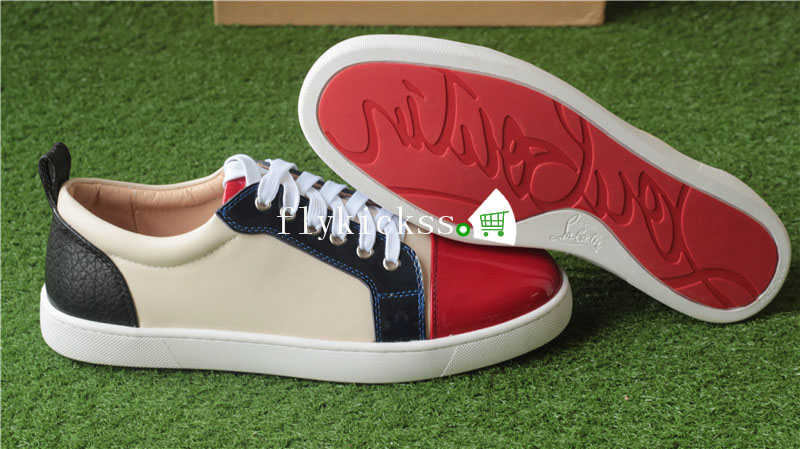 Christian louboutin Low Top Sneaker Red Cream Black