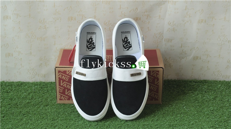 Fear of God x Vans Slip On 47 DX Black And White